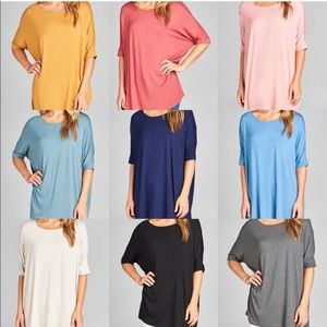 Tunic T-Shirt 3/4 sleeve
